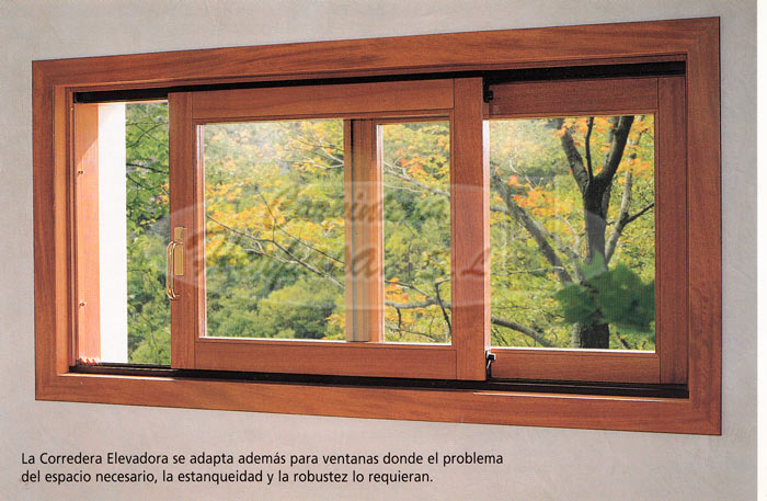 Mod ventana madera corredera elevadora for Ventanas en madera
