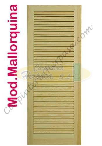 Puerta de madera interior mallorquina - Mallorquinas de madera ...