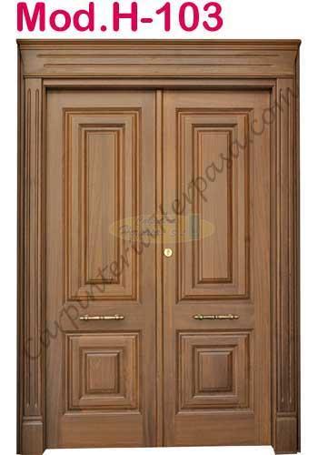 Puerta de madera exterior mod h 103 for Puerta de madera exterior usada