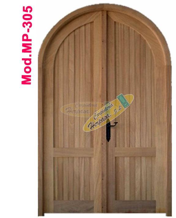 puerta madera medio punto mod mp