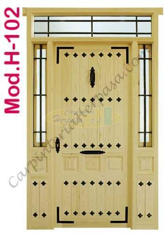Puerta de Madera Exterior Mod. H-102