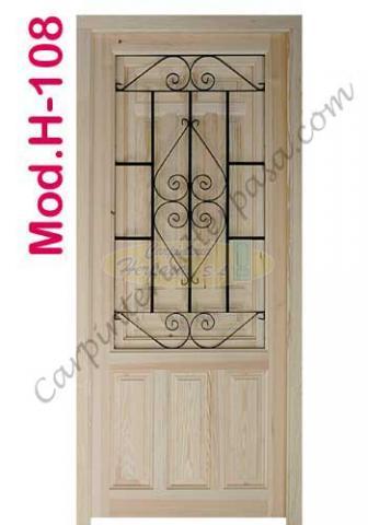 Puerta de Madera Exterior Mod. H-108