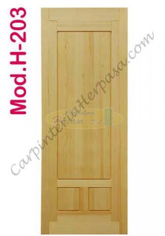Puertas de Madera Interior Mod. H-203