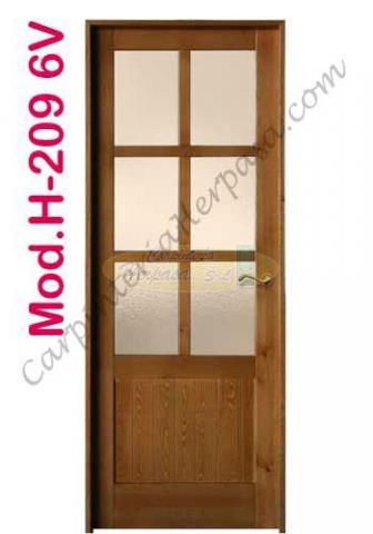 Puerta Madera Interior Mod. H-209 6V