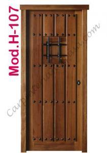 Puerta de Madera Exterior Mod. H-107