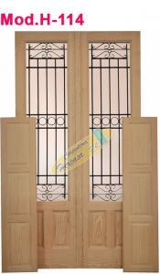 Puerta de Madera Doble bis Mod. H-114