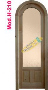 puerta interior medio punto con cristalera