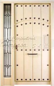 Puerta Blanca de madera Exterior